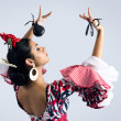 Flamenco dancer in beautiful dress  — Stock Photo