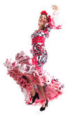 Tancerka flamenco w piękną sukienkę — Zdjęcie stockowe