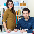 Young architect team working at office — Stock Photo #41545153
