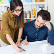 Young architect team working at office — Stock Photo #41545521