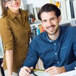 Young architect team working at office — Stock Photo #41545567