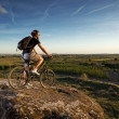Young man riding mountain bike — Stock Photo #45987575
