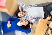 Young couple moving in new home  — ストック写真