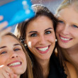 Group of friends taking selfie in the street.  — Stock Photo #50156753