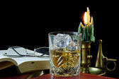 Relaxaion with Whisky — Stock Photo