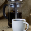 Coffee Mug and Cafetiere - Stock Photo