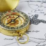 Brass Compass — Stock Photo