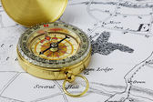 Brass Compass — Stock Photo