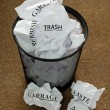 Waste Paper Bin — Stock Photo