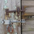Stock Photo: Old Latch and Lock