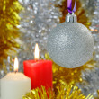 Christmas Baubles and Candles — Stock Photo #31166661