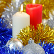 Christmas Baubles and Candles — Stock Photo #31167231