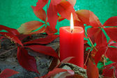Autumn Candle — Stock Photo