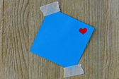 Post It with Heart — Stock Photo
