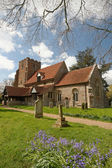 English Village Church — Stock Photo