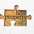 Property puzzle — Stock Photo