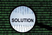 Solution concept — Stock Photo