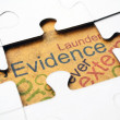 Evidence puzzle concept — Stock Photo