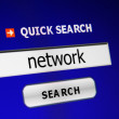 Search for network — Stock Photo