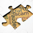 Scam puzzle concept — Stock Photo