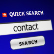 Search for contact - Stock Photo