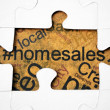 Home puzzle concept — Stock Photo