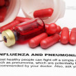 Influenza and pnemonia — Stock Photo