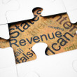 Revenue puzzle concept — Stock Photo