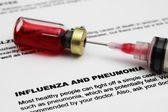 Influenza and pnemonia — Stock Photo