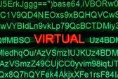 Virtual — Stock Photo