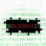 Business puzzle concept — Stock Photo