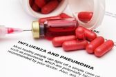 Influenza and pneumonia — Stock fotografie