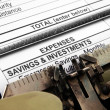 Stock Photo: Savings and investments