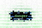 Danger puzzle concept — Stock Photo