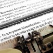 Stock Photo: Employment form