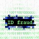 Id fraud puzzle concept — Stock Photo