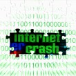 Internet crash puzzle concept — Stock Photo