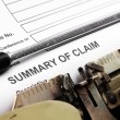 Stock Photo: Summary of claim