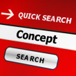 Search for concept — Stock Photo