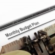 Stock Photo: Monthly budget plan