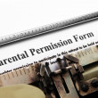 Stock Photo: Parental permission form