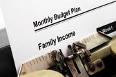Monthly budget plan — Stock Photo