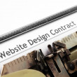 Web design contract — Stock Photo