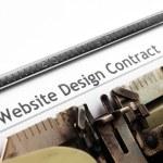Web design contract — Stock Photo