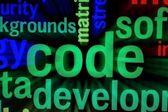 Code concept — Stock Photo