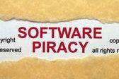 Softwarové pirátství koncept — Stock fotografie