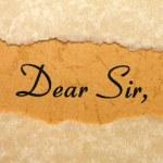 Dear sir — Stock Photo