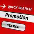 Web promotion — Stockfoto