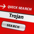 Web trojan concept - 