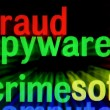 Fraud spyware crime concept — Stock Photo